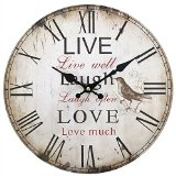 LIVE LAUGH LOVE Alte Wanduhr